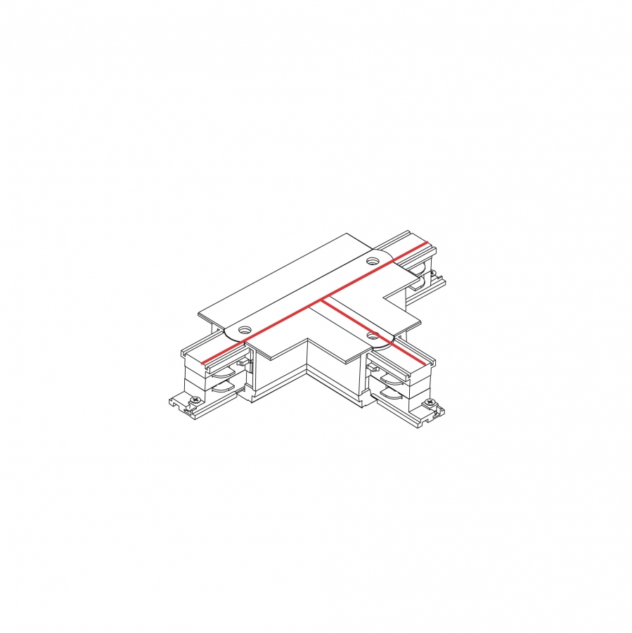 CTLS RECESSED POWER T CONNECTOR, LEFT 2 (T-L2) WHITE 8238