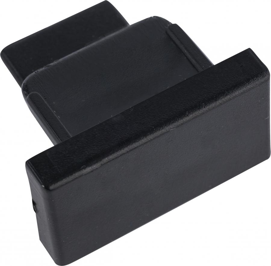 PROFILE DEAD END CAP BLACK 9458