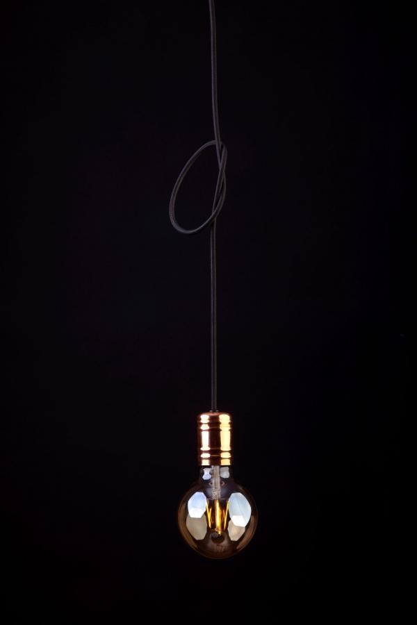 CABLE BLACK/COPPER I 9747, h=160 cm